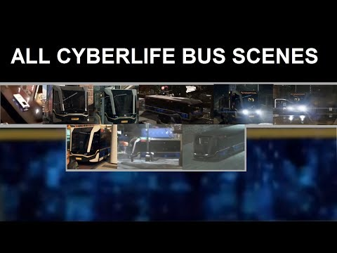 Detroit: Become Human | ALL CYBERLIFE BUS SCENES [CB  MODEL DOWNLOAD]