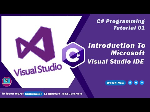 C# programming tutorial  18 – Intro to Microsoft Visual Studio.NET IDE