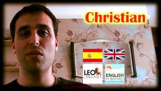 preview picture of video 'Christian - Standard English & Work Placement Course - EiM - Aprender Inglés en Margate'