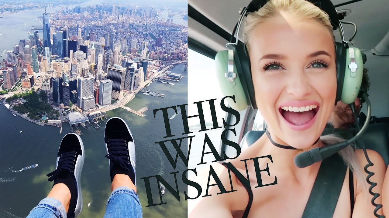 WE WERE HANGING OUT OF A HELICOPTER OVER NEW YORK | VLOG 19