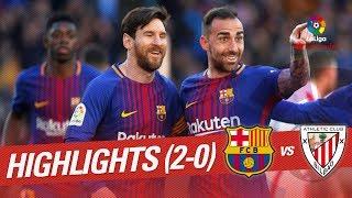 Resumen de FC Barcelona vs Athletic Club (2-0)