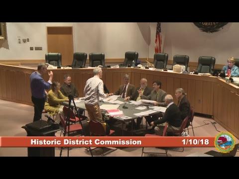 Historic District Commission 1.10.18