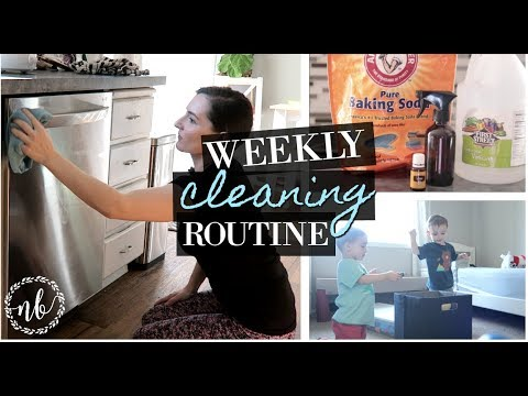 WEEKLY CLEANING ROUTINE | natural cleaning products | Natalie Bennett