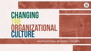 Changing the Organizational Culture