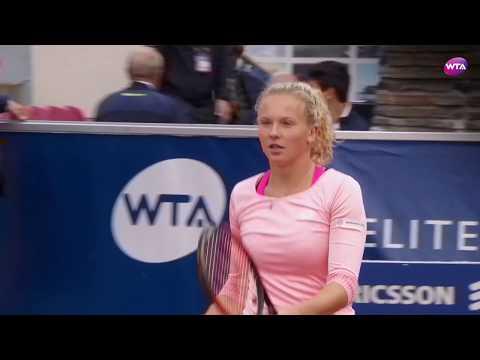 Swedish Open 2017 Semifinals   Kateřina Siniaková vs Caroline Garcia   WTA Highlights