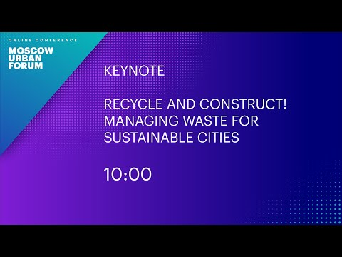Recycle and Construct! Managing Waste for Sustainable Cities