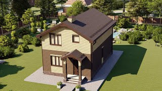 Проект дома 125-E, Площадь дома: 125 м2, Размер дома:  10,5x6,5 м