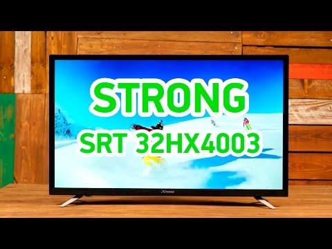 Strong SRT 32HX4003 - компактный телевизор со встроенным DVB-T2 тюнером - Видео демонстрация