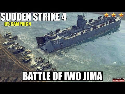 Sudden Strike 4 The Pacific War DLC | US Campaign | Battle of Iwo Jima