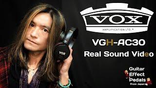VOX VHG-AC30 Guitar Amplifier Headphones / real sound video
