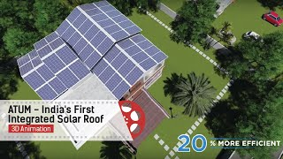 ATUM - India's First Integrated Solar Roof | Product Video |3D Animation