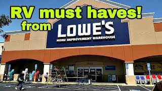 More RV must haves from LOWES!
