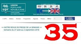 Revue de Presse UPR semaine n°35