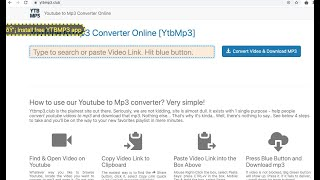 Ytbmp3  Youtube To Mp3 Converter Online Pop-up Removal.