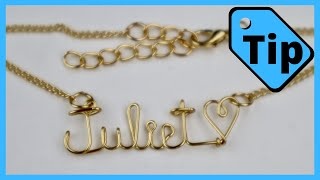 Wire Name Necklace on a Chain // Tip Tuesday Tutorial