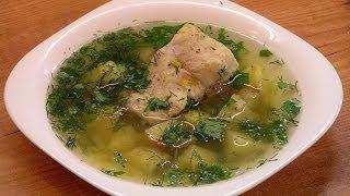 Уха из сома по-домашнему / Wels catfish ukha (clear Russian fish soup) ♡ English subtitles