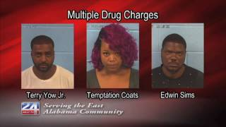 Three Arrested on Drug and Weapon Charges
