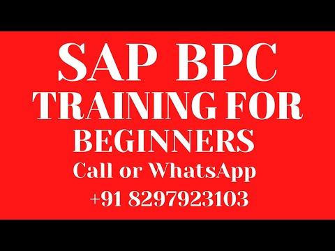 SAP BPC Training videos 1 for beginners sap bpc +91 7702843287 ...