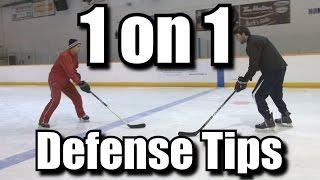 1 on 1 Defense Tips for Hockey