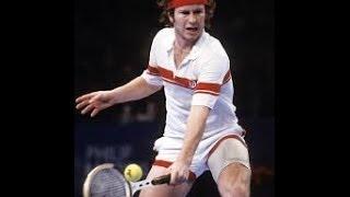 🔵 John McEnroe - French Open (Roland Garros) 1984 - Serve & Drop-shot 🔵