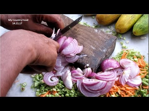 Supar Fast All Vegetable Cutting Man - Amazing Knife Cutting Skills - Vegetable Cutting Competition