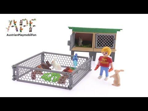 Vidéo PLAYMOBIL Country 6140 : Enfant avec enclos à lapins et clapier