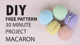 (NO SEWING MACHINE NEEDED) DIY - Macaron Felt Food And Keychain