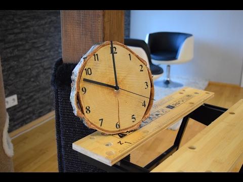 DIY WOOD CLOCK / UHR SELBER BAUEN / EINE WANDUHR AUS HOLZ SELBER MACHEN / HOW TO / UPCYCLING