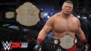 WWE 2K16 UFC Championship feat. Custom UFC Brock Lesnar Attire & Arena (PS4 Community Showcase)