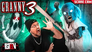Granny 3!  Slendrina's Mom Scares Us IRL! Beat The Game 1st Try! (FGTeeV Gameplay / Skit/ Scare Cam)