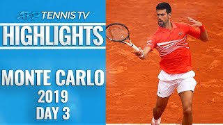 Djokovic And Coric Survive, Cilic And Wawrinka Knocked Out | Monte-Carlo 2019 Highlights Day 3