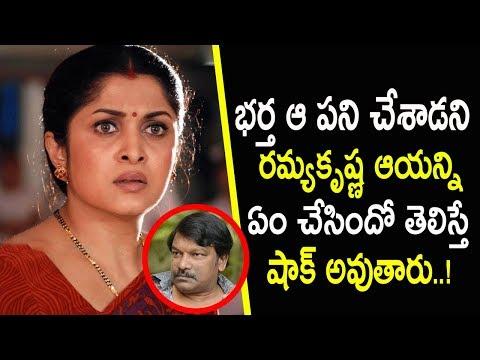 Download Telugu Actress Ramyakrishna With Her Husband Krishna Vamsi