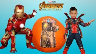 BIGGEST AVENGERS INFINITY WAR Toys Surprise Egg Unboxing Fun With CKN Toys