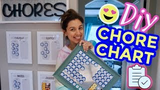 DIY CHORE CHART | How To Easily Track If Your Kids (or Adults😉) Do Their Chores!