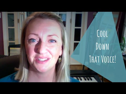 Excellent tip for COOLING DOWN your voice!
