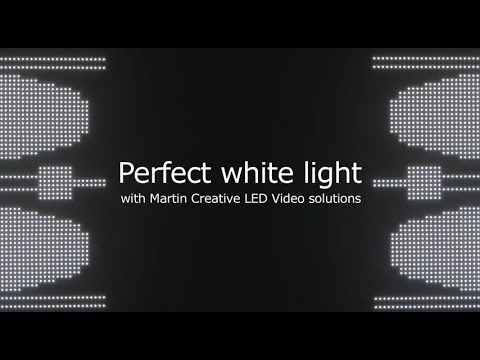 Perfect white light with Martin Creative LED solutions