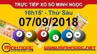 Xổ số Minh Ngọc™ Thứ Sáu 07/09/2018 - Kênh chính thức từ Minhngoc.net.vn