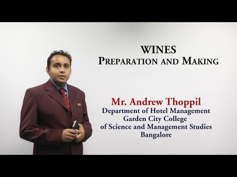 Preparation and making of wine