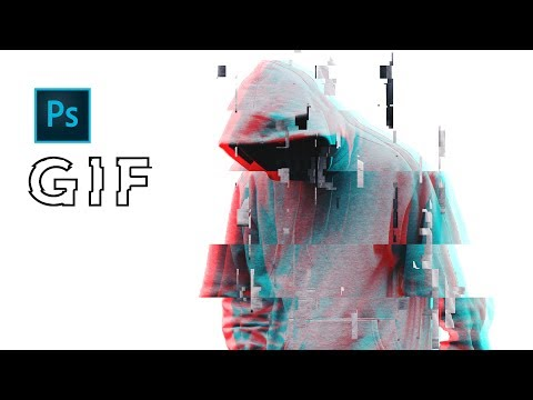 How To Create GLITCH ANIMATION In Photoshop | GIF Effect Tutorial