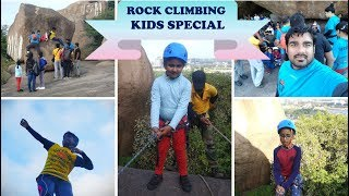 Kids Special Rock Climbing Adventure activities at Khajaguda, Hyderabad