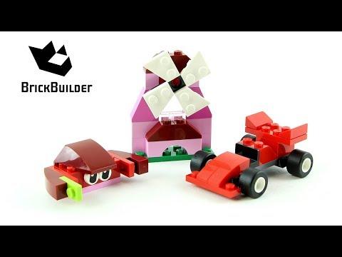 Vidéo LEGO Classic 10707 : Boîte de construction rouge