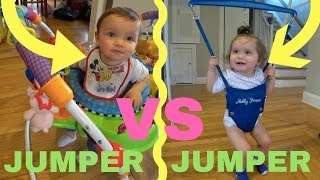 JOLLY JUMPER VS BABY EINSTEIN | REVIEW AND COMPARISON | TWIN EDITION