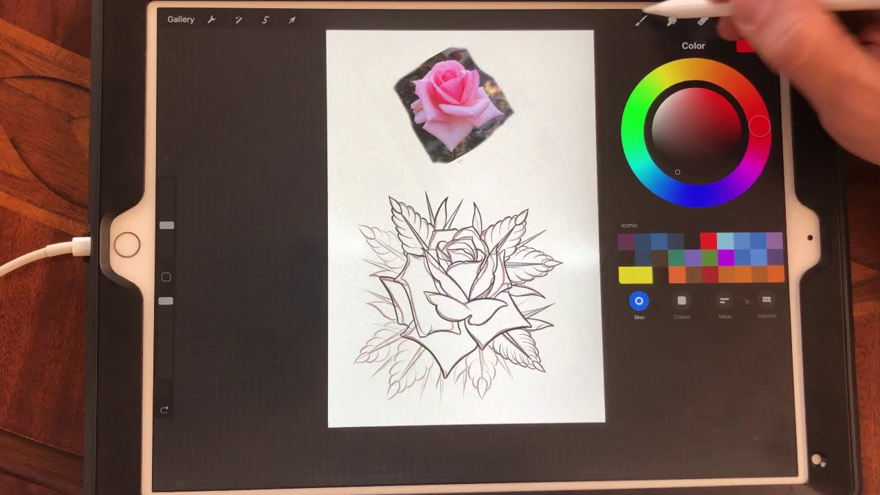 drawing tattoo using procreate by tattoo hustlers