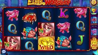 Elves Workshop DoubleU Casino Bonus big win