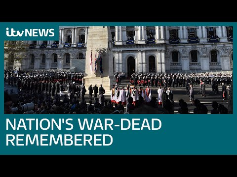 Live: Remembrance Sunday commemorated at Cenotaph   ITV News
