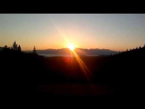 Восход солнца.Горы Карпаты. с.Быстрыця !
