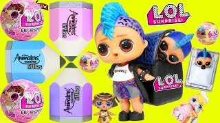 Lil Punk Boi LOL Surprise Dolls Sisters Open New DIsney Littles House + Wedding with JOJO SIWA
