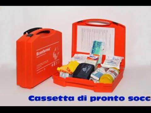 Cassetta di pronto soccorso conforme all'allegato1 DM 388/03