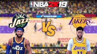 NBA 2K19 - Utah Jazz vs. Los Angeles Lakers - Full Gameplay (Updated Rosters)