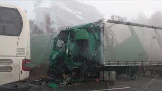 ДТП 18+ И снова автобус... подборка аварий за 16.10.2018